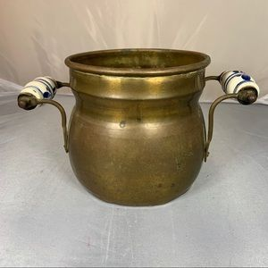 Vintage Copper Pot Cauldron Rustic Country Farm